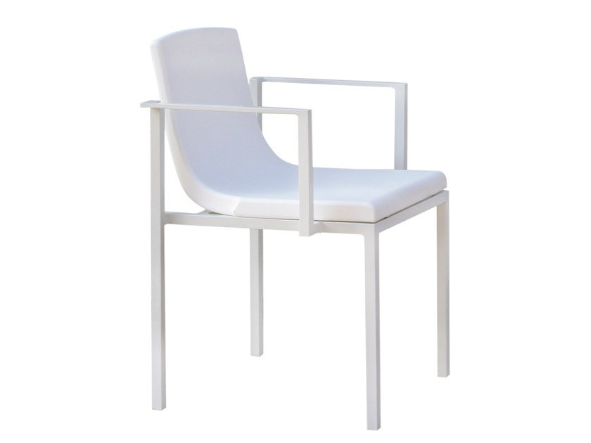 Polyethylene garden chair with armrests UNA | Polyethylene chair by calma