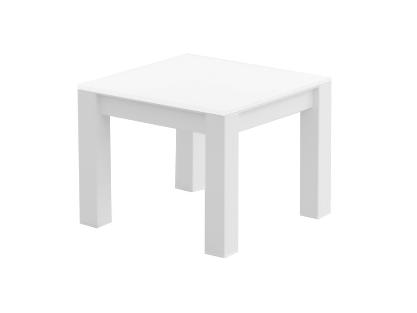 Tempered glass garden side table UNA | Tempered glass coffee table by calma