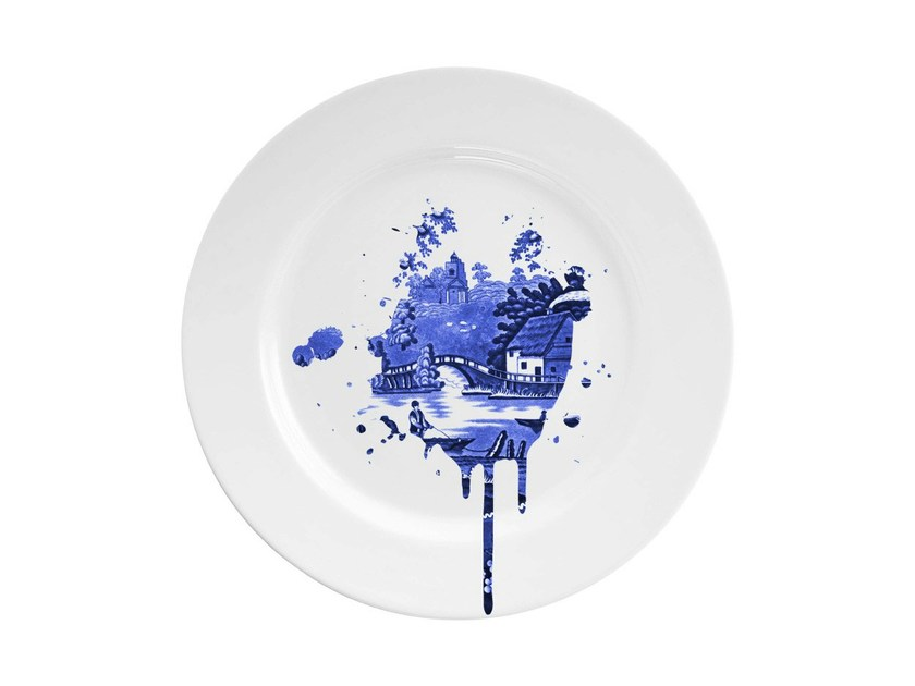 Dinner plate UNDERCOVER ANTIQUE by Mineheart
