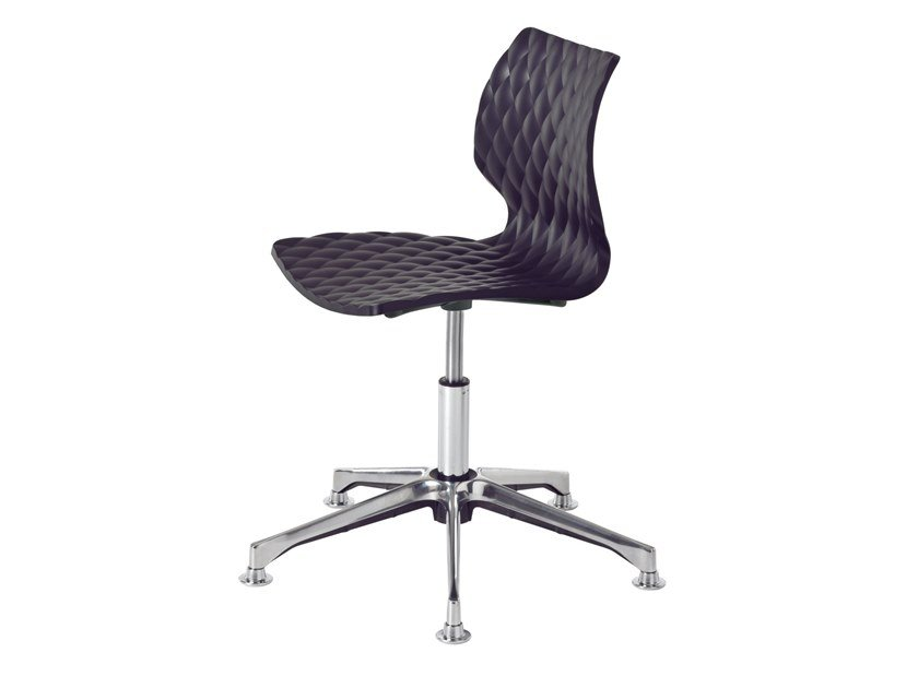 Swivel plastic task chair with 5-Spoke base UNI 558-DP by Metalmobil