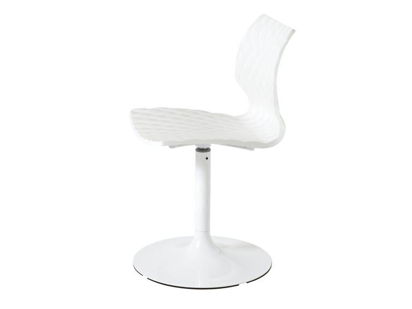 Swivel polypropylene chair UNI 603 by Metalmobil