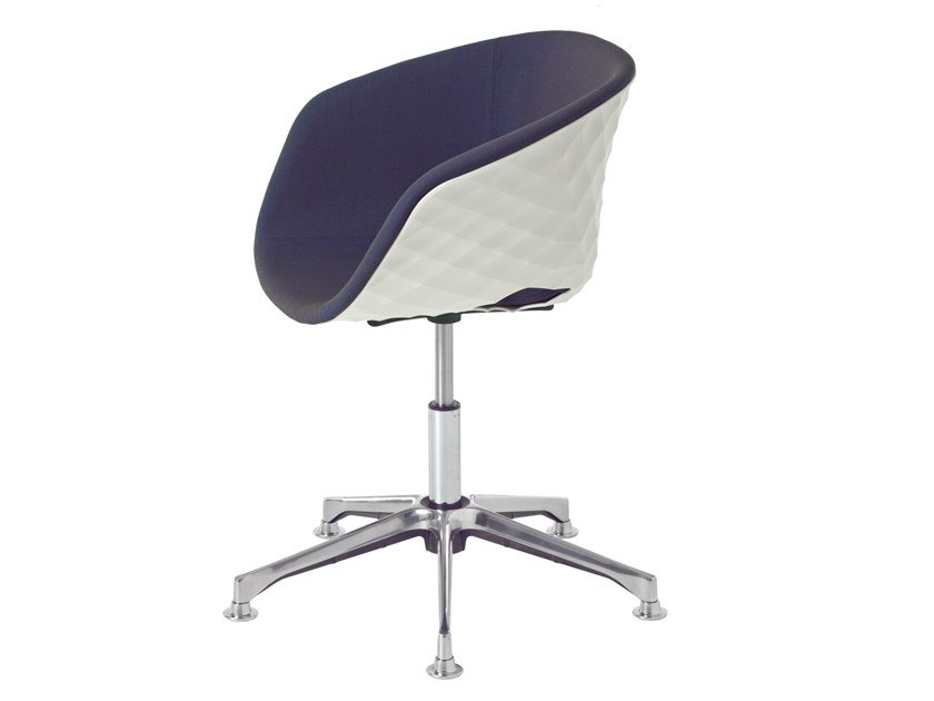 Polypropylene task chair with 5-Spoke base with armrests UNI-KA 597M-DP by Metalmobil