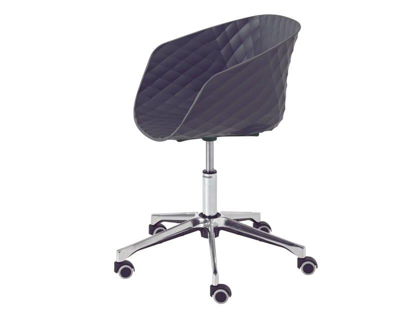 Chaise De Bureau A 5 Rayons Avec Accoudoirs Roulettes UNI KA 597DR By METALmobil