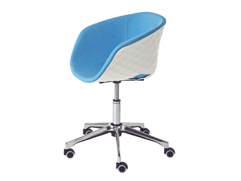 Polypropylene task chair with 5-Spoke base UNI-KA 597M-DR by Metalmobil
