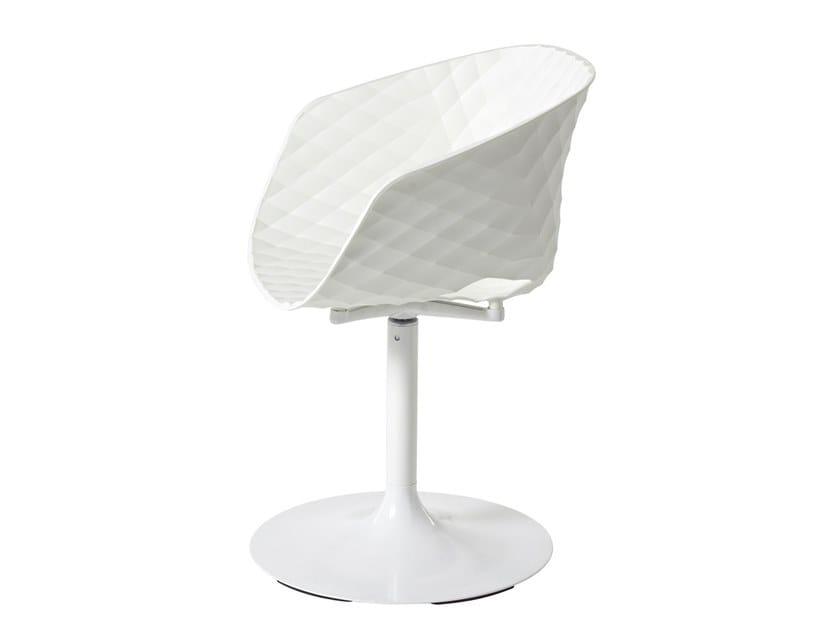 Polypropylene chair with armrests UNI-KA 600 by Metalmobil