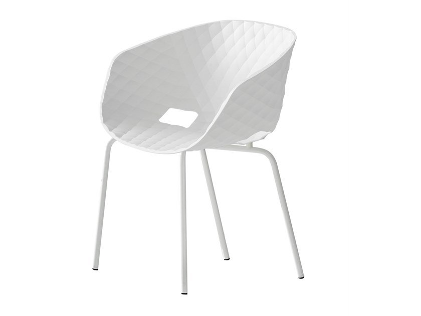 Polypropylene chair with armrests UNI-KA 604 by Metalmobil