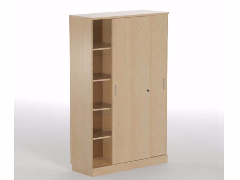 Modular office storage unit with sliding doors Office storage unit with sliding doors by NARBUTAS