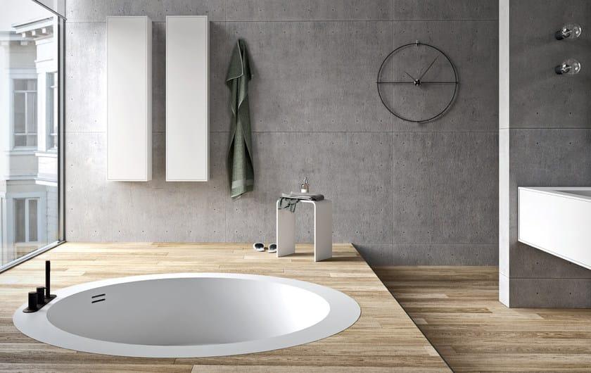 Vasca Da Bagno Unico : Vasca da bagno centro stanza rotonda in corian da incasso unico