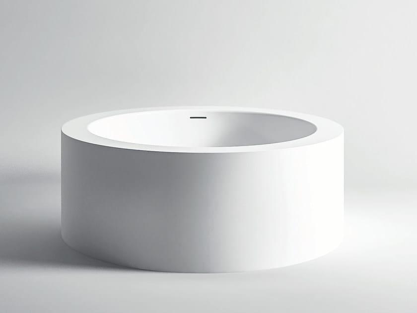 Vasca da bagno centro stanza rotonda in corian unico rotonda maxi vasca da bagno rotonda - Vasca da bagno rotonda ...