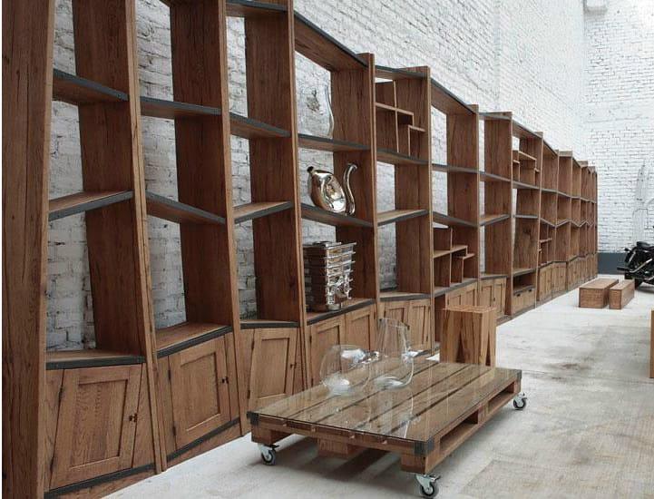 Libreria a giorno componibile in legno massello UNIKA | Libreria ...