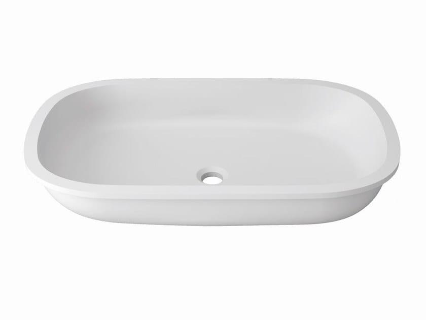 Undermount rectangular Krion® washbasin UNIQUE | Undermount washbasin by Systempool