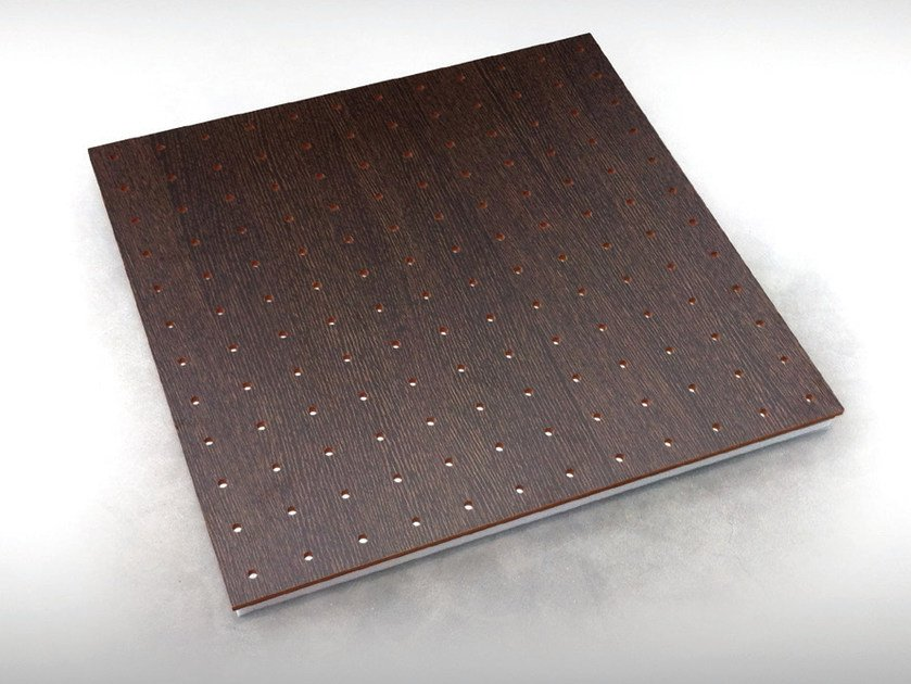 Wooden decorative acoustical panel UNISQUARE BC TECH MEL by Vicoustic by Exhibo