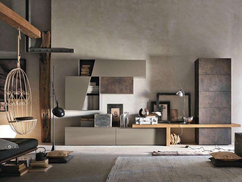 Parete attrezzata componibile UNIT A002 by Gruppo Tomasella