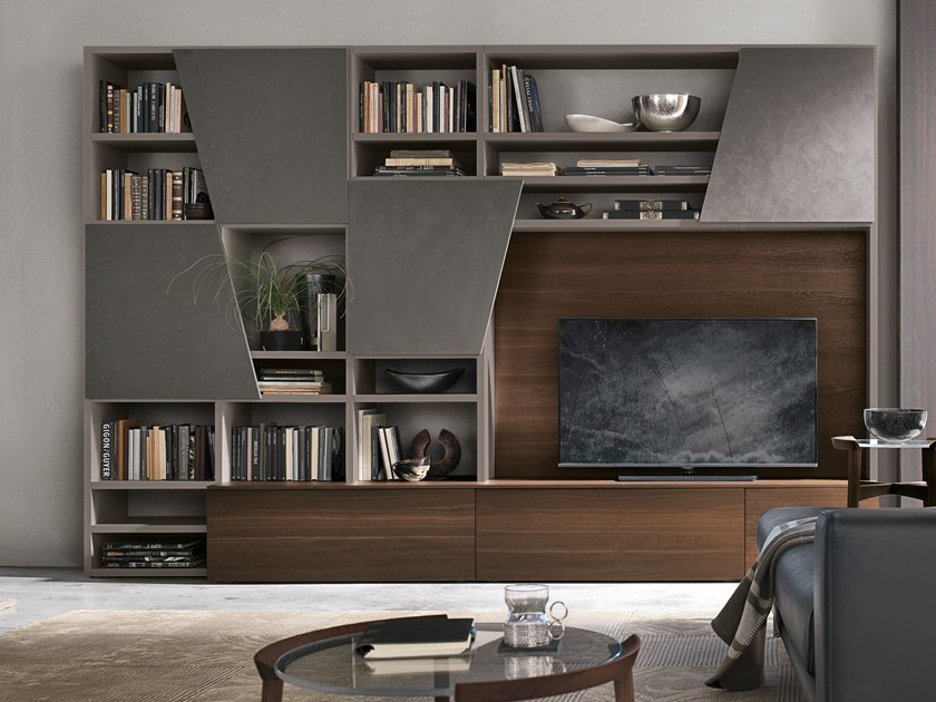 Sectional storage wall UNIT A028 by Gruppo Tomasella