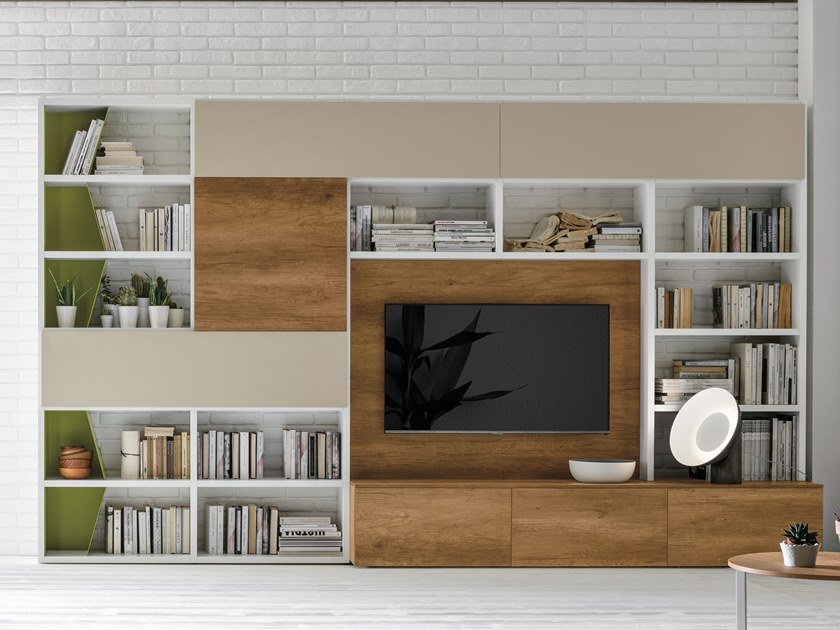 Sectional storage wall UNIT A036 by Gruppo Tomasella