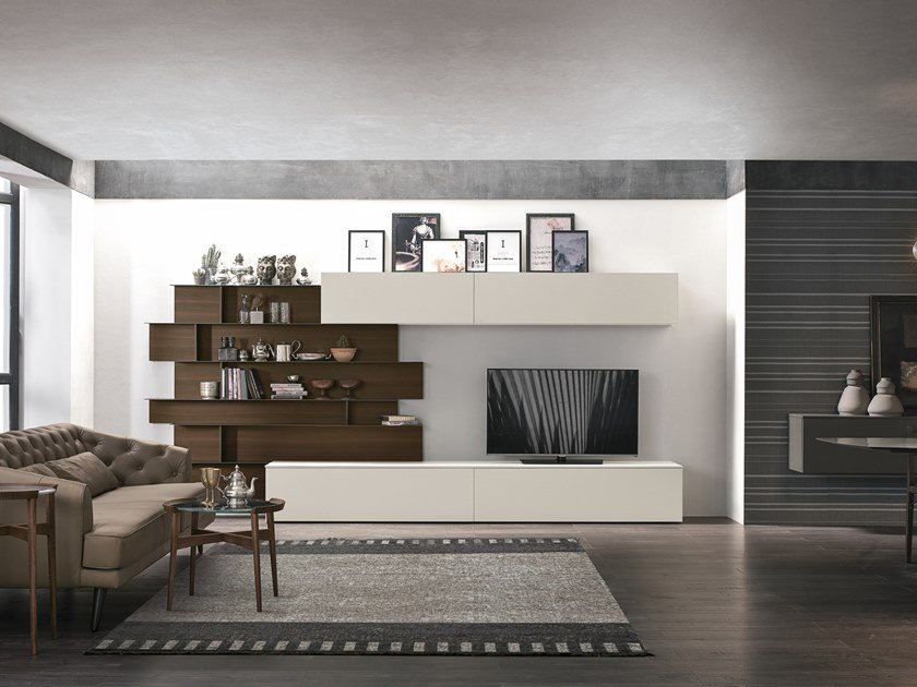 Sectional storage wall UNIT A062 by Gruppo Tomasella