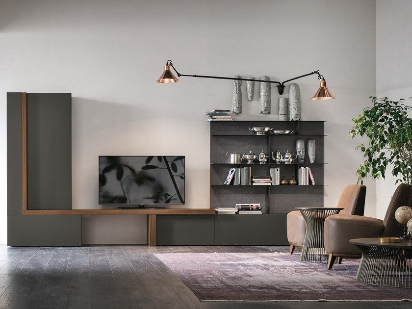 Sectional storage wall UNIT A063 by Gruppo Tomasella