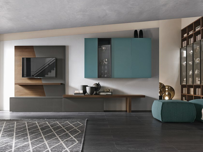 Sectional storage wall UNIT A065 by Gruppo Tomasella