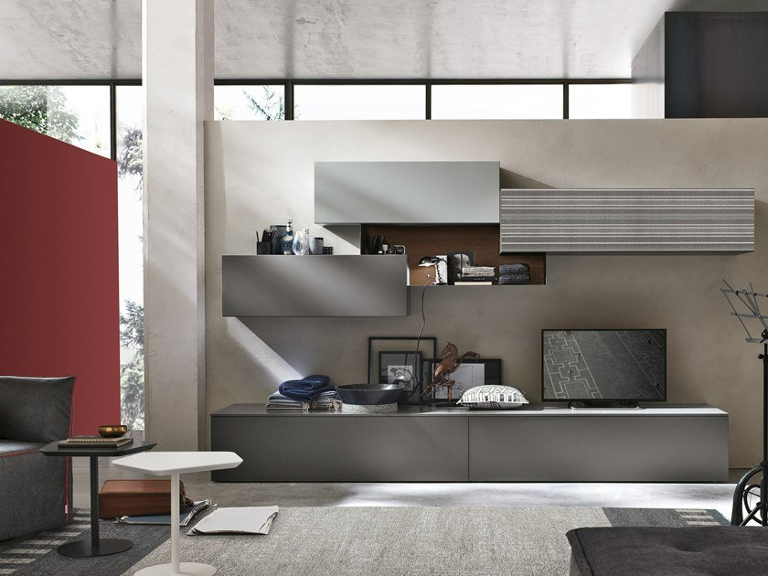 Sectional storage wall UNIT A069 by Gruppo Tomasella