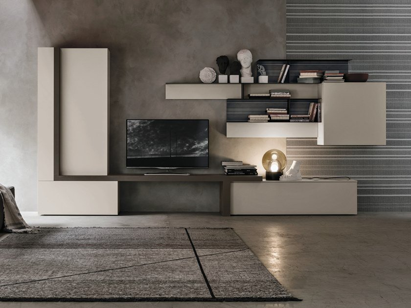 Sectional storage wall UNIT A071 by Gruppo Tomasella