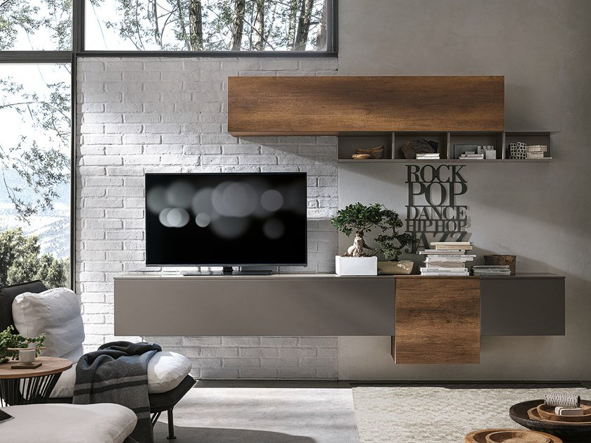 Sectional storage wall UNIT A017 by Gruppo Tomasella