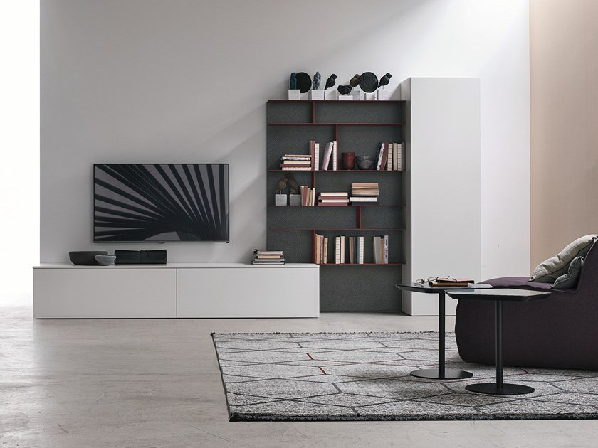 Sectional storage wall UNIT A072 by Gruppo Tomasella