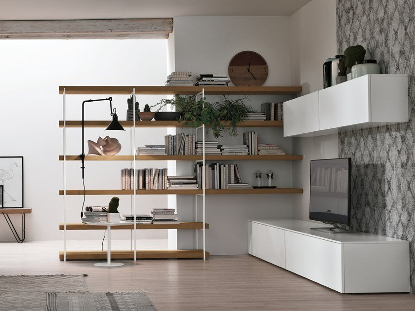 Sectional storage wall UNIT A076 by Gruppo Tomasella