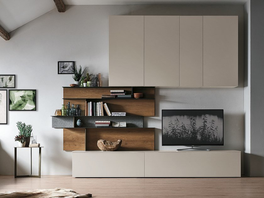 Sectional storage wall UNIT A078 by Gruppo Tomasella