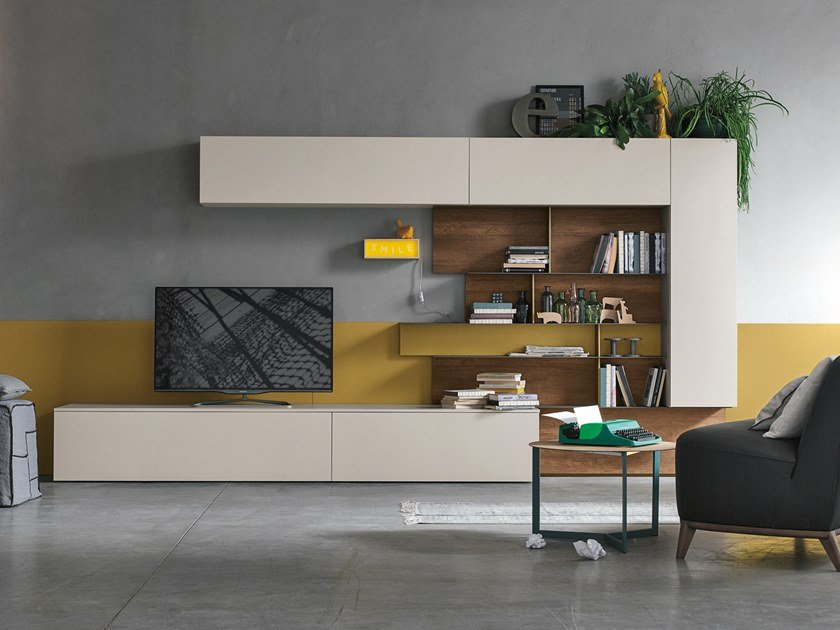Sectional storage wall UNIT A081 by Gruppo Tomasella