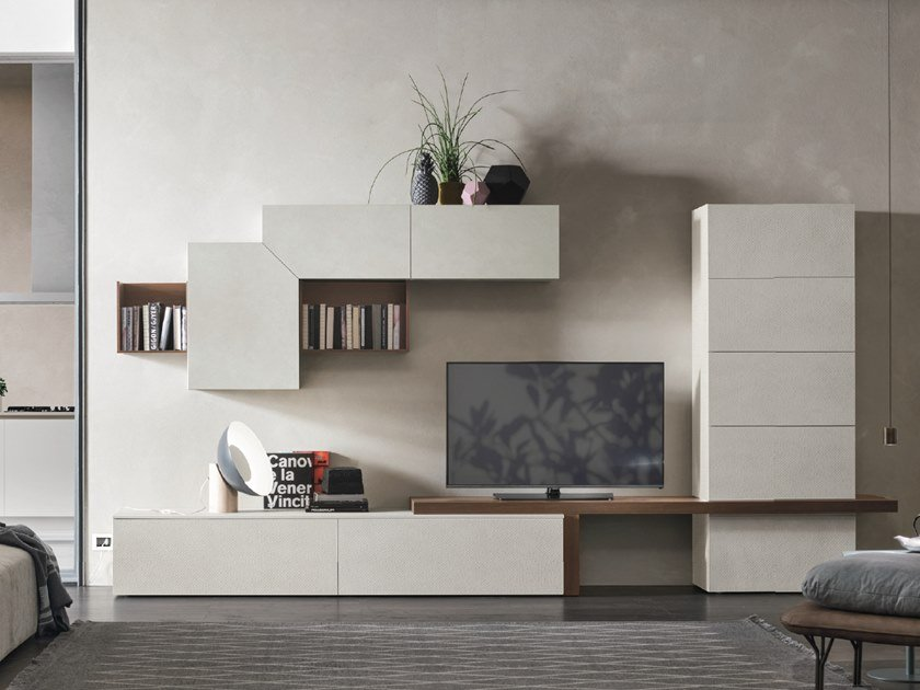 Sectional storage wall UNIT A101 by Gruppo Tomasella