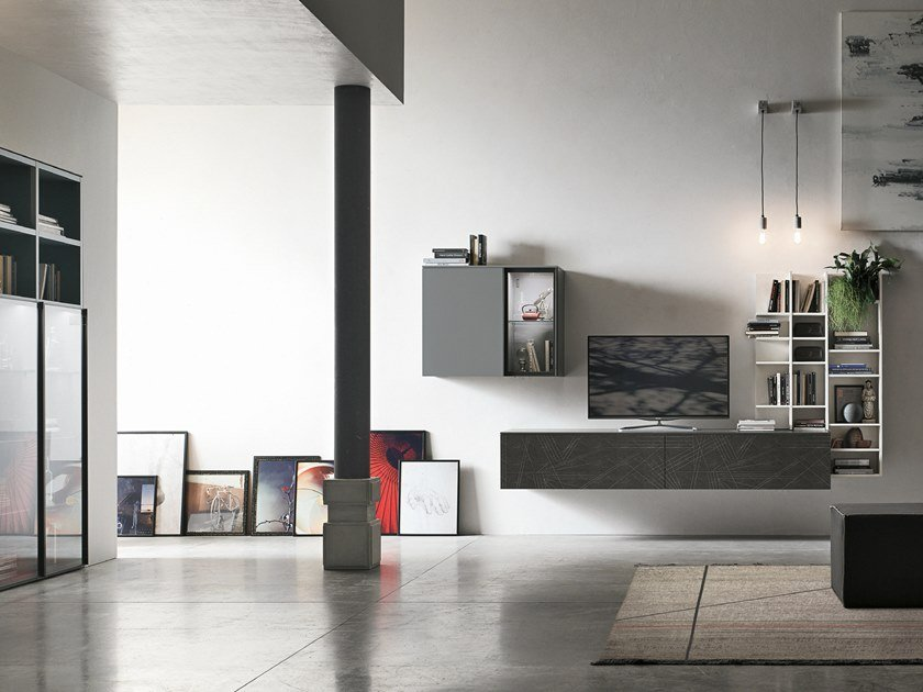 Sectional storage wall UNIT A103 by Gruppo Tomasella
