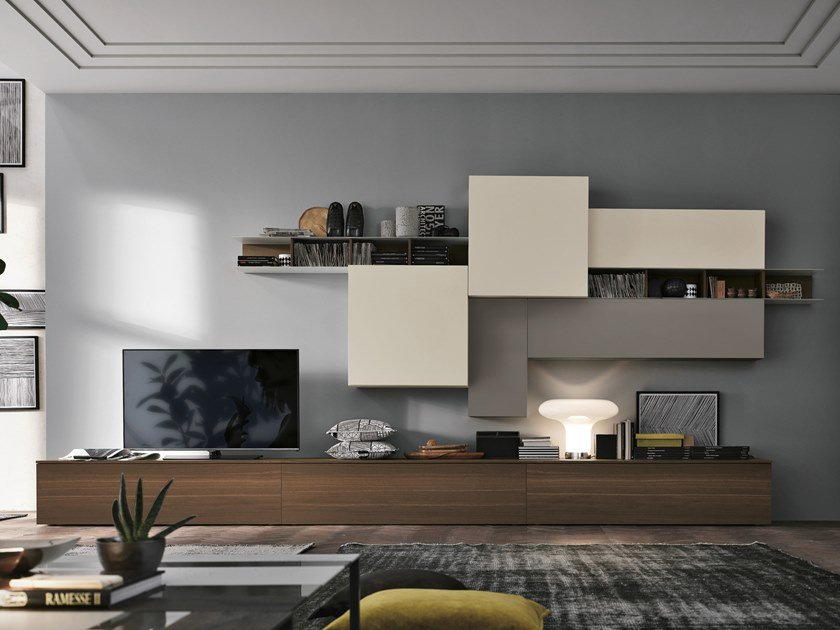 Sectional storage wall UNIT A106 by Gruppo Tomasella