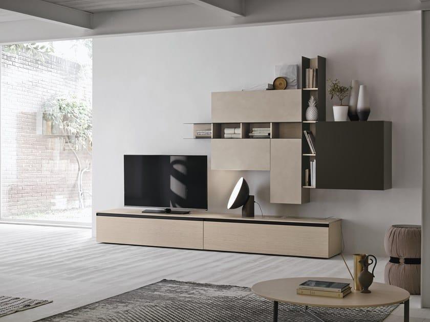 Parete attrezzata componibile UNIT A107 by Gruppo Tomasella