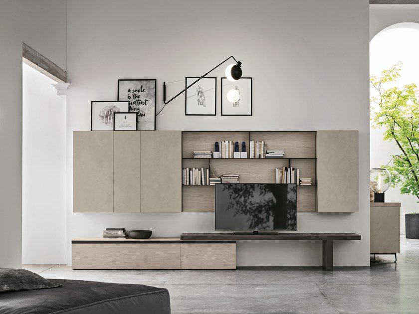 Sectional storage wall UNIT A111 by Gruppo Tomasella