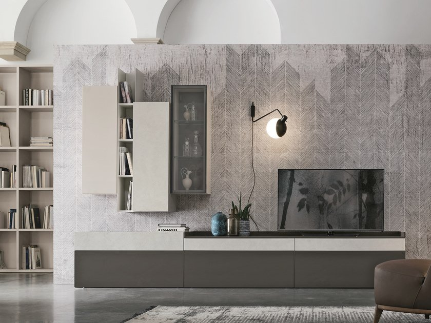 Sectional storage wall UNIT A112 by Gruppo Tomasella