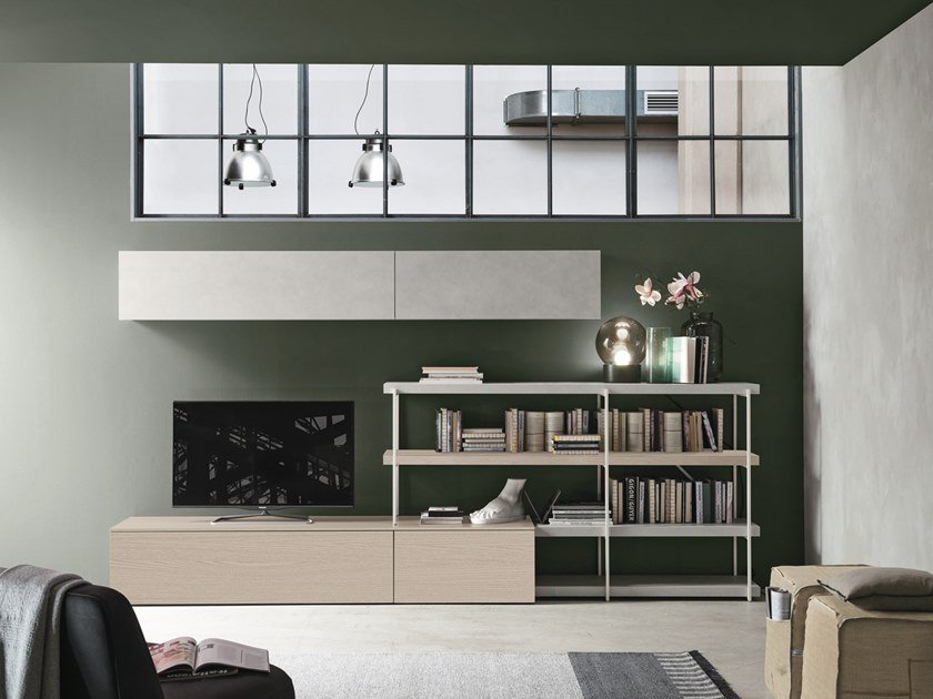 Sectional storage wall UNIT A113 by Gruppo Tomasella