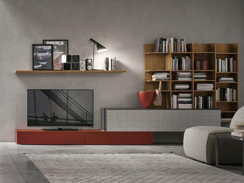 Parete attrezzata componibile UNIT A114 by Gruppo Tomasella