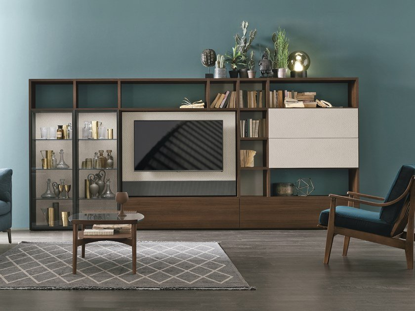 Sectional TV wall system UNIT A117 by Gruppo Tomasella