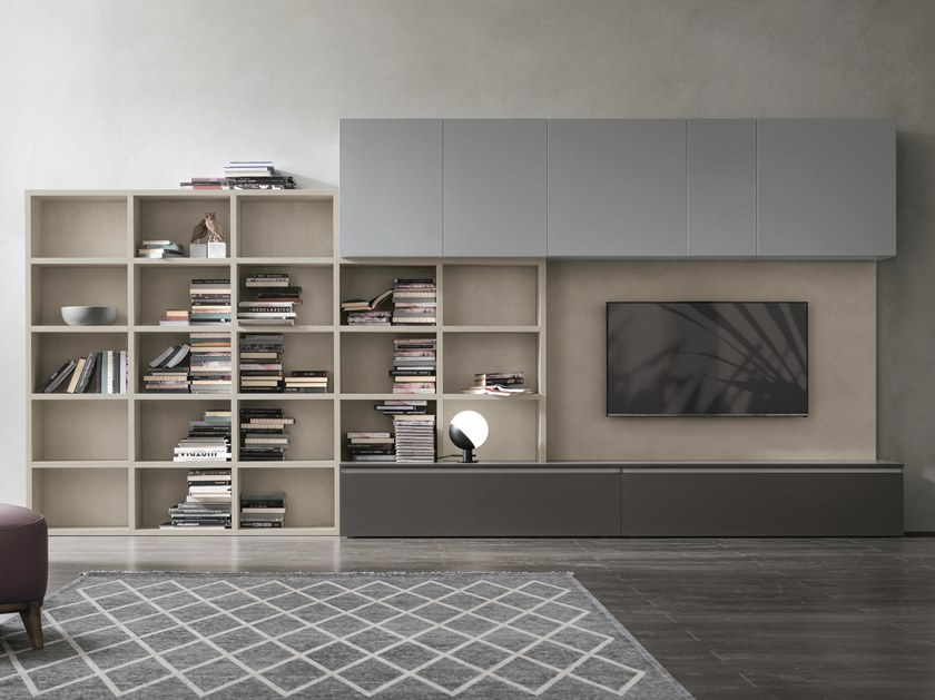 Sectional storage wall UNIT A118 by Gruppo Tomasella