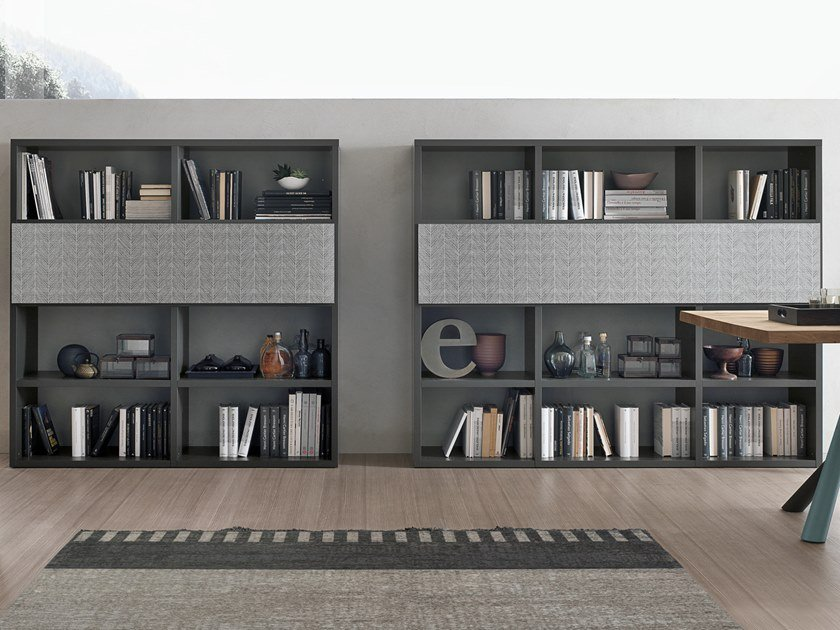 Sectional bookcase with secretary desk UNIT A119 - 120 by Gruppo Tomasella