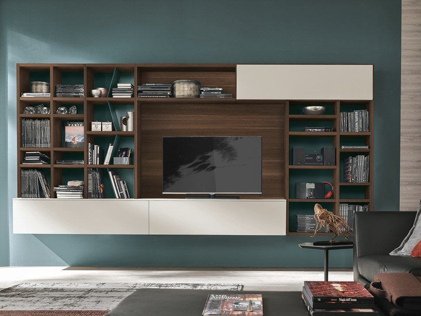 Sectional storage wall UNIT A121 by Gruppo Tomasella