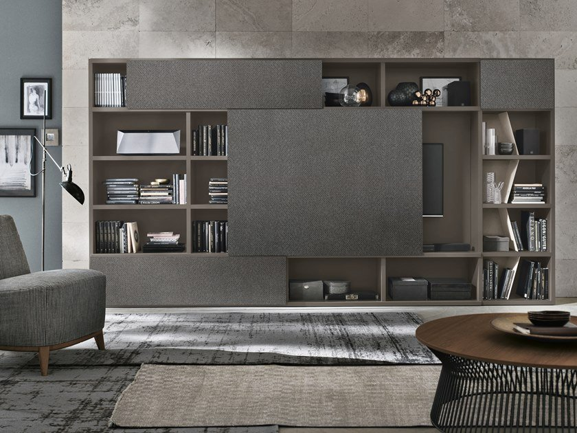 Sectional TV wall system UNIT A122 by Gruppo Tomasella