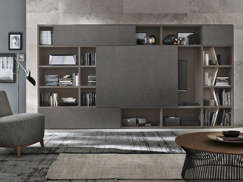 Parete attrezzata componibile con porta tv UNIT A122 by Gruppo Tomasella