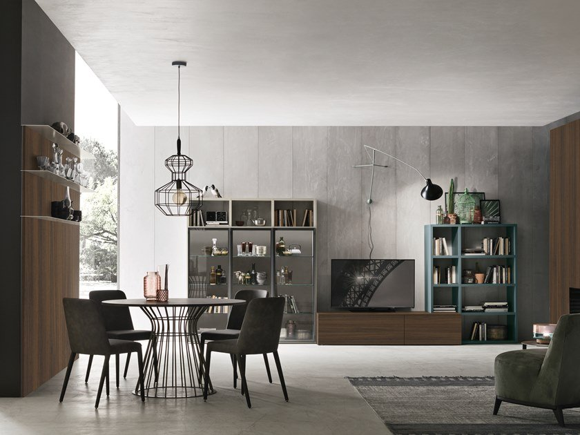 Sectional storage wall UNIT A124 by Gruppo Tomasella