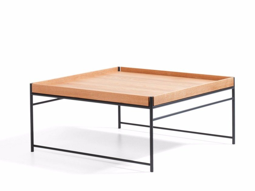 Square wooden coffee table UNIT | Coffee table by Blå Station