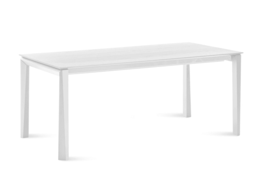 Extending rectangular wood veneer table UNIVERSE 182 by DOMITALIA