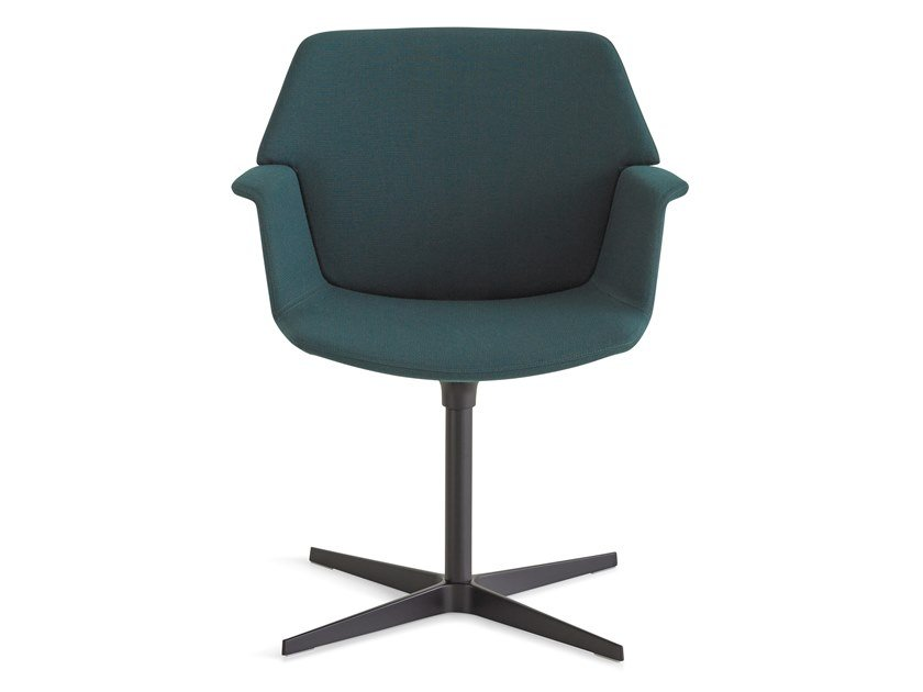 Swivel fabric chair with 4-spoke base UNO | Chair with 4-spoke base by Lapalma