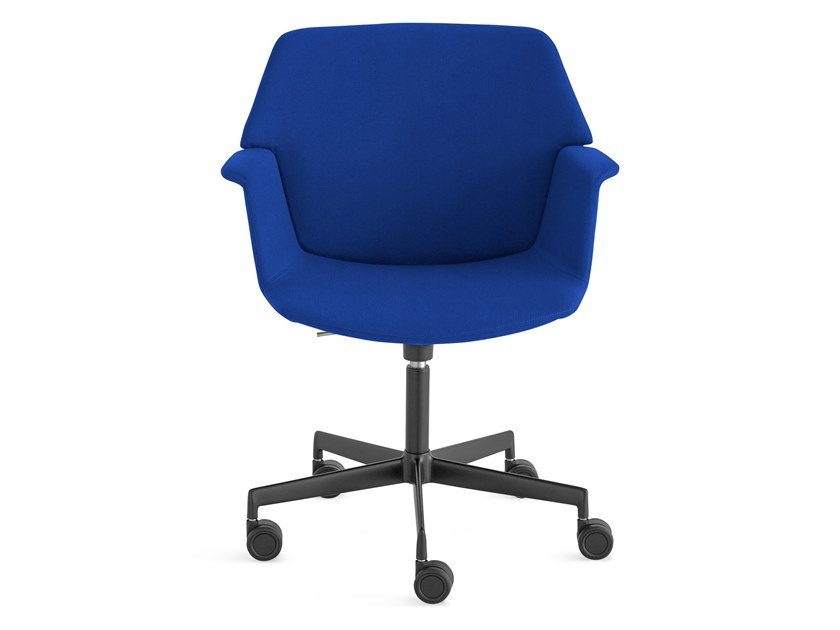 Swivel fabric task chair with 5-Spoke base UNO | Chair with 5-spoke base by Lapalma