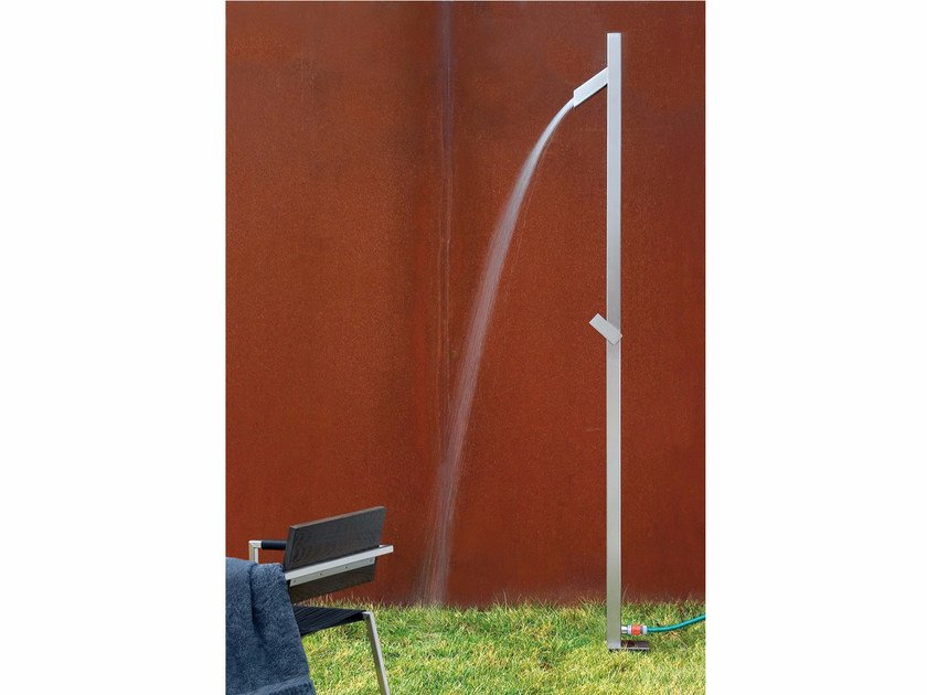 Stainless steel outdoor shower UNO by conmoto