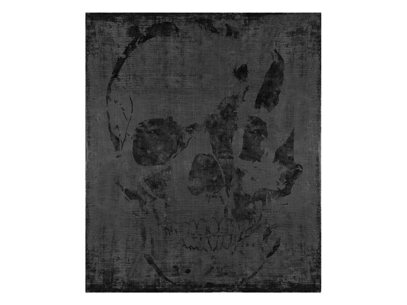Handmade rectangular silk rug UNTITLED #1061 by HENZEL STUDIO